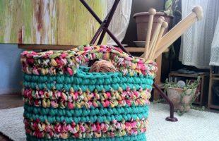 Bolso Costura Realizado Con Trapillo Reciclar Prendas
