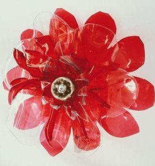 Broche Amapola Rojo