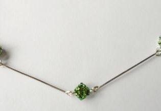 Collar Verde Delicas Y Plata – Hecho A Mano